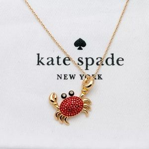 Kate Spade Shore Thing Crab Pendent Necklace